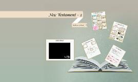 New Testament - Unit 2