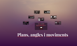 Plans, angles i moviments
