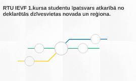RTU IEVF 1.kursa studentu īpatsvars atkarībā no deklarētās d