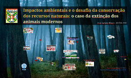 Impactos ambientais e o desafio da Conservação - CMSM