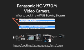 Panasonic 770 Camera Lesson Intelligent Auto