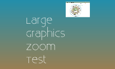 Zoom on Large Graphic Test