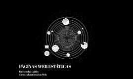 PÁGINAS WEB ESTÁTICAS