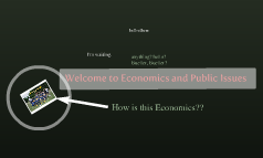 Welcome to Economics and Public Issues
