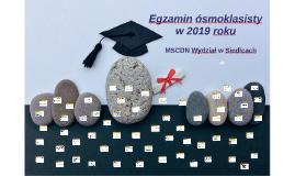 Egzamin ósmoklasisty w 2019 roku