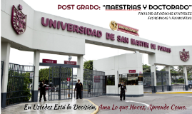"""Copy of POST GRADO:""""MAESTRIAS Y DOCTORADO"""""""