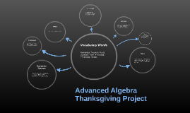 Advanced Algebra Thanksgiving Project