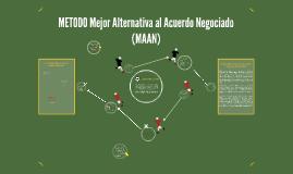 METODO Mejor Alternativa al Acuerdo Negociado (MAAN) - Fabio RE