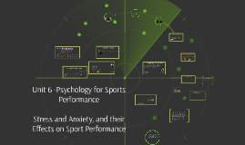 Unit 6 - Psychology of Sports Performance, Stress and Anxiety, and their Effects on Sport Performance