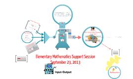 Elementary Math Support Session September