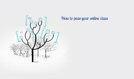 How to pass an online class