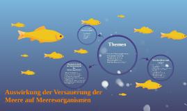 Auswirkung der Versauerung der Meere auf Meeresorganismen