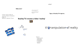 "Reality TV creates a False ""Reality"" about Health"