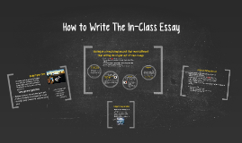 Copy of How to Write The In-Class Essay