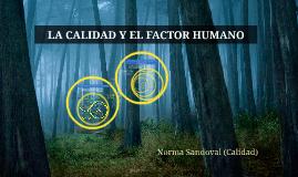 Factor Humano y la Calidad Total