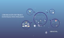 Copy of COMUNICACIÓN EN PÚBLICO ESTRATEGIAS PARA  PERSUADIR