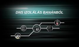DNS IZOLÁLÁS BANÁNBÓL