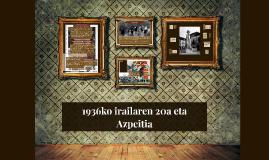 1936ko irailaren 20a eta Azpeitia