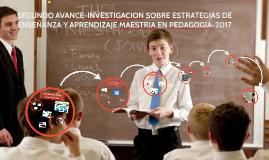 SEGUNDO AVANCE-INVESTIGACION SOBRE ESTRATEGIAS DE ENSEÑANZA