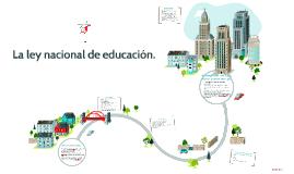Copy of La ley nacional de educación.