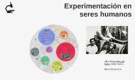 Experimentación en seres humanos