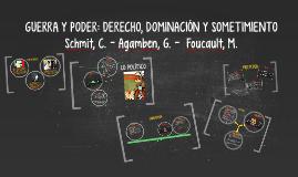 GUERRA Y PODER: DERECHO, DOMINACIÓN Y SOMETIMIENTO
