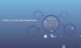 Fayol e a Gestão das Organizações