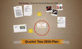 Sales and Training Cocperation Quarter Two 2016 Plan