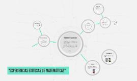 Copy of EXPERIENCIAS EXITOSAS DE MATEMÁTICAS