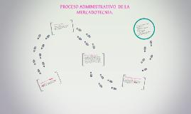 PROCESO ADMINISTRATIVO  DE LA MERCADOTECNIA.