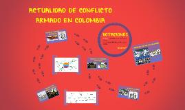 ACTUALIDAD DE CONFLICTO ARMADO E COLOMBIA