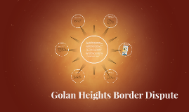 Golan Heights Border Dispute
