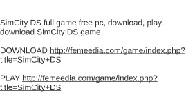SimCity DS full game free pc, download, play. download SimCi
