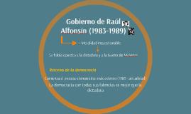 Gobierno de Raúl Alfonsín (1983-1989)
