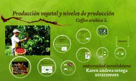 Producción vegetal y niveles de producción