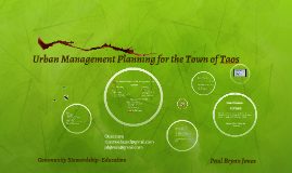 Copy of Copy of Urban Management Plan Taos