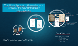 The Other Approach: Glossaries as a Record of Medieval Information Management