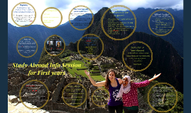 Study Abroad Info Session for First Years