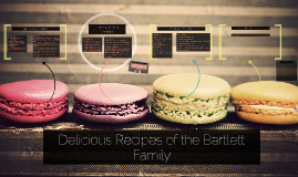 Delicious Recipes of the Bartlett Family