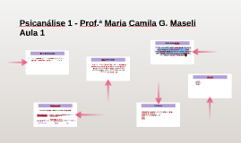 Psicanálise 1 - Prof.ª Maria Camila G. Maseli