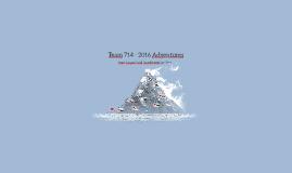 Team 714 - 2016 Adventures