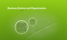 Business System and Organization