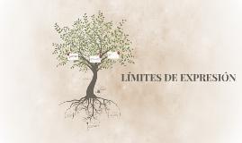 LÍMITES DE EXPRESIÓN