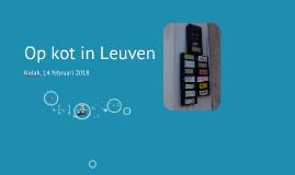 Op kot in Leuven (Kortrijk, 2018)