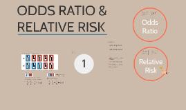Odds ratio & relative risk