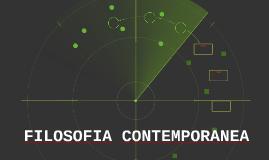 FILOSOFIA CONTEMPORANEA