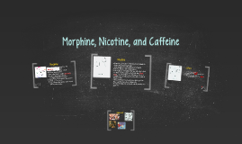 Morphine, Nicotine and Caffeine
