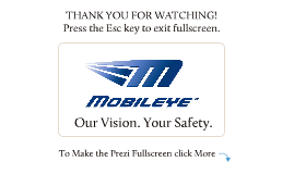 FLEET Mobileye C2-270 Introduction