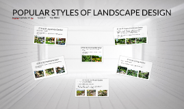 STYLES OF LANDSCAPE DESIGN