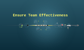 Ensure Team Effectiveness